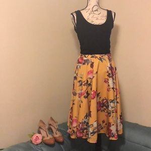 NEW Modcloth Ikebana for All A-Line Skirt